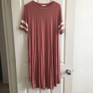 NEW Varsity Striped Swing Dress